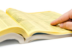 Photo of a yellow page book