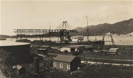 Vintage photo of dock.