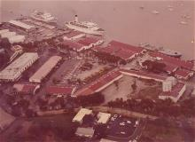 Vintage photo of the mall and dock from above