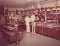 Vintage photo from the inside a store in the mall